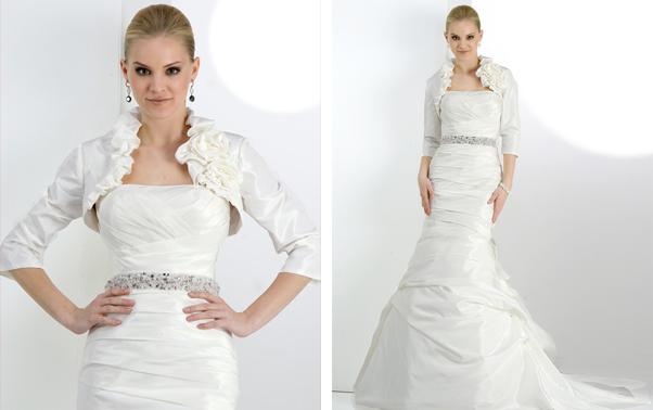 Rochie de mireasa cu bolero si volanase Couture Impression Bridal