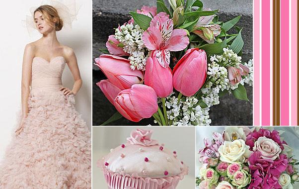 Decaoratiuni de culoare roz in cadrul nuntii mult visate
