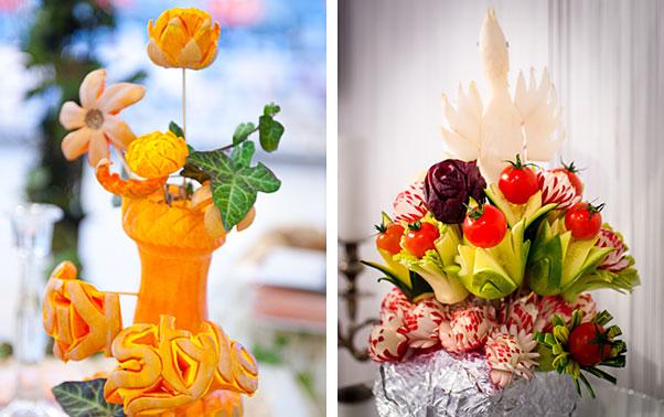 Sculpturi in fructe si legume pentru nunta
